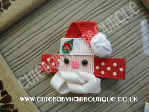 Santa Christmas Baby Hair Clip