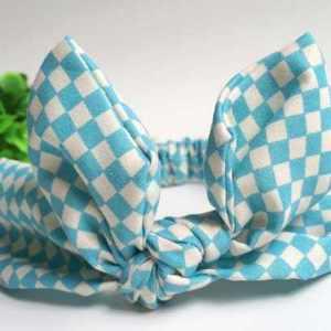 Turquoise Top knot headband