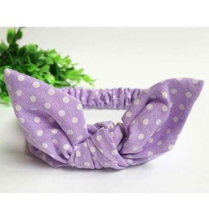 Lilac baby top knot headband