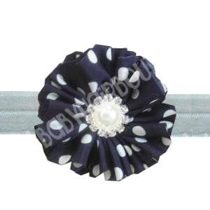 Navy blue flower headband for girls