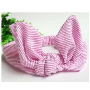 pink top knot headband for girls