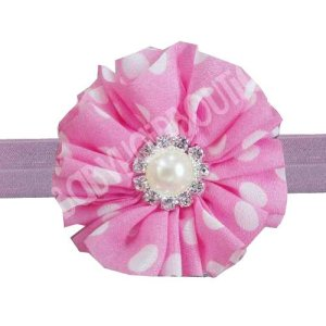pink flower headband for girls