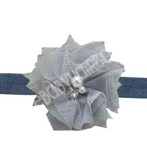 silver flower headband for toddlers
