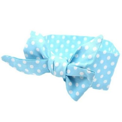 blue top knot headband
