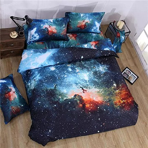 Realistic Nebula Galaxy Bedding Set