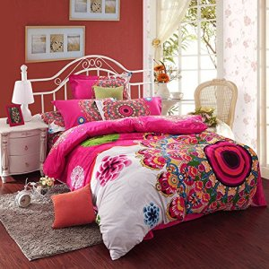 White Medallion Bohemian Bedding