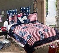 Patriotic Bedding: Beautiful American Flag Comforter Sets!