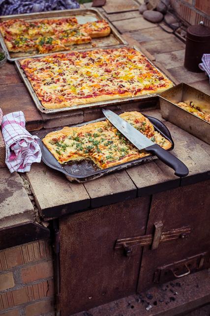 Pizza aus dem Steinofen