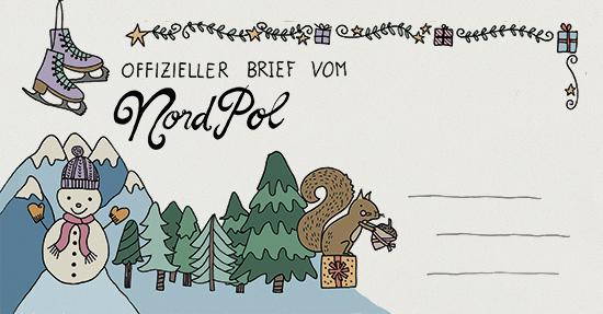 So sieht der Umschlag vom Weihnachtsmann dieses Jahr von Vorne aus
