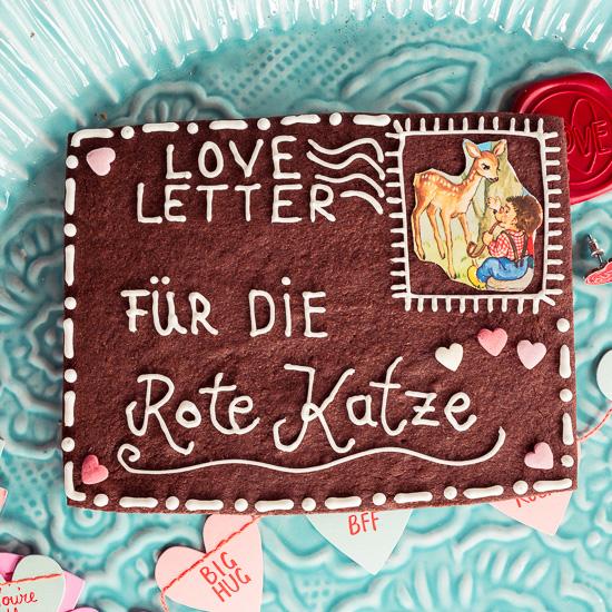 Nach dem BFF Anhänger hat die Rote Katze natürlich auch einen Letter bekommen