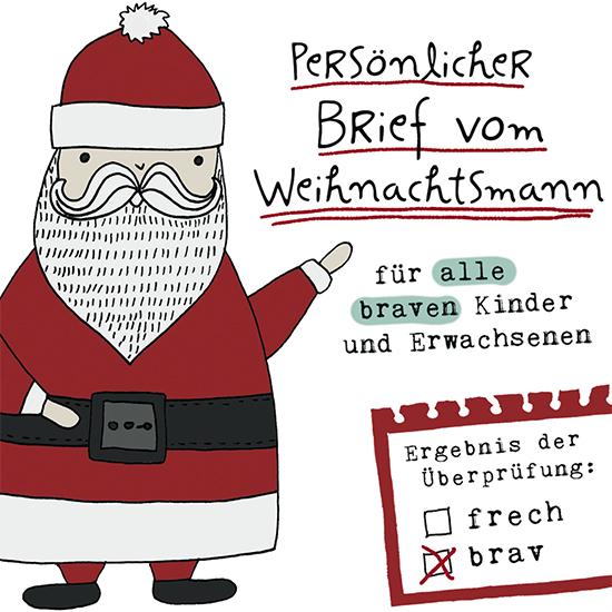 auch dieses Jahr wieder der personalisierte Brief vom Weihnachtsmann