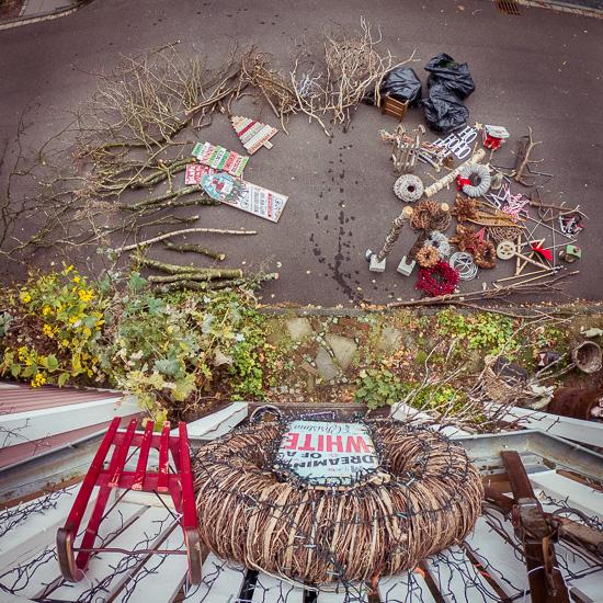 immer nach Halloween startet am Rosa Haus die Weihnachtsdeko
