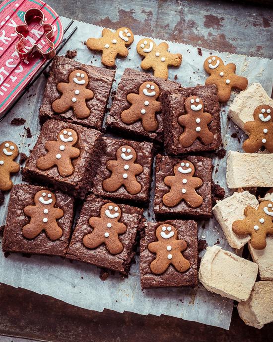 zu den Brownies habe ich auch ein paar selbstgemachte Marshmallows dekoriert