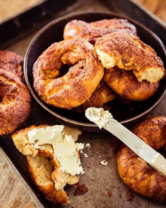Die Cinnamon Crunsh Bagels schmecken natürlich super mit einem Frischkäseaufstrich