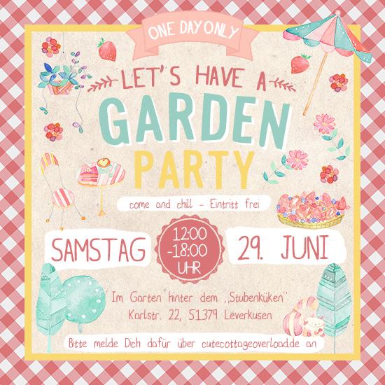 Deine Einladung für unsere Garden Party hinter dem Stubenküken am Sa 29.6.2019