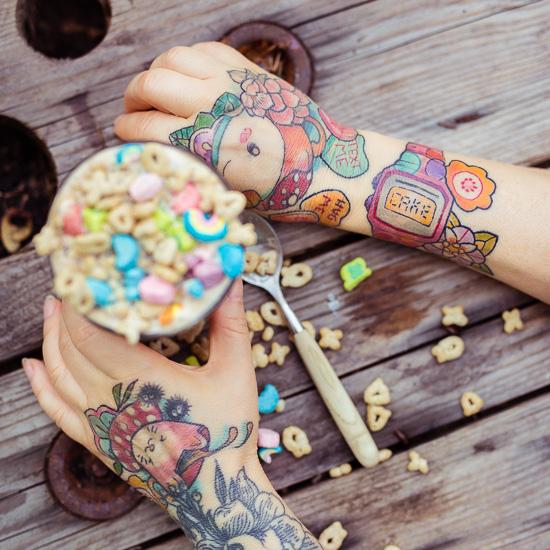 Meine neue Armbanduhr als Tattoo. Ab sofort ist immer Cake Time