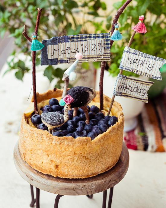 Diesen Mini New York Cheesecake habe ich Marius zum Geburtstag gebacken