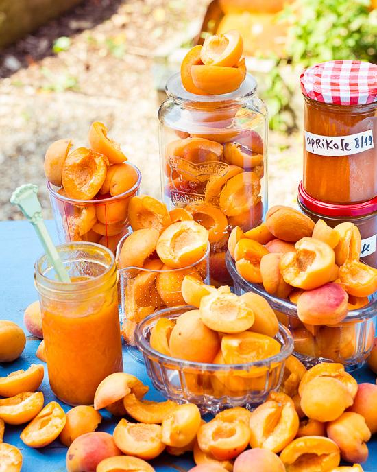 Jedes Jahr mache ich immer Aprikosenmarmelade