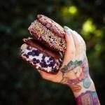 Eis Sandwich mit Schoko Cookies