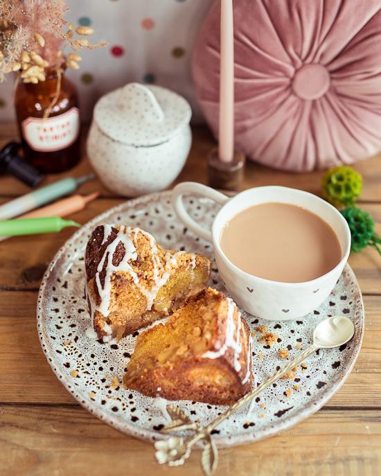 Apfel Zimt Streuselkuchen und ne Tasse Tee