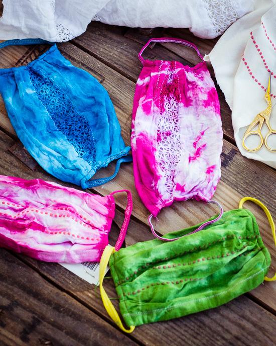 Ich habe jetzt auch einige Batikmasken genäht