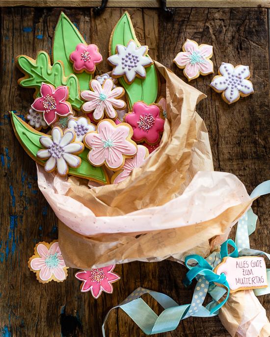 Mein Cookie Blumenstrauss zum Muttertag