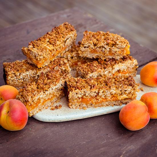 Für unseren Holland Ausflug habe ich Aprikosen Flapjacks gemacht
