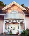 Rosa Haus Neuer Eingang