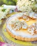 Zitronen Holunderblüten Tarte