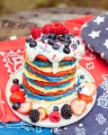 4th of July Pancake Stack