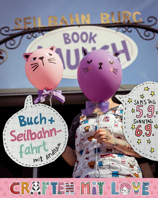 Der Book Launch für Craften Mit Love findet am 5. und 6.9. statt