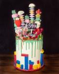 Rainbow Colour Cake zur Einschulung