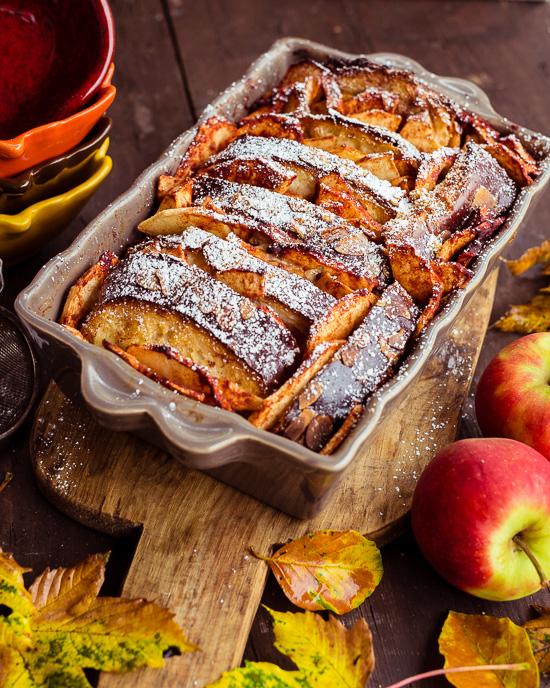 Den Ofenschlupfer habe ich mit Äpfeln gemacht