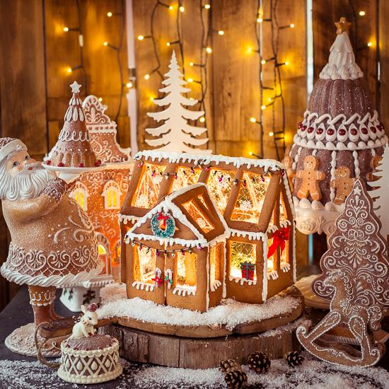 Mein Lebkuchenhaus in weihnachtlichem Wintergartenlook