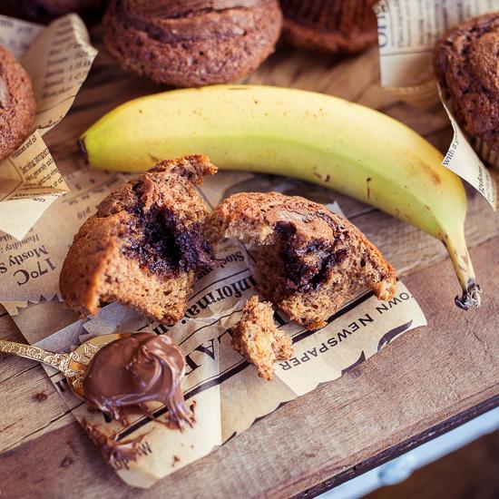Die Bananenmuffins gehen super schnell und einfach