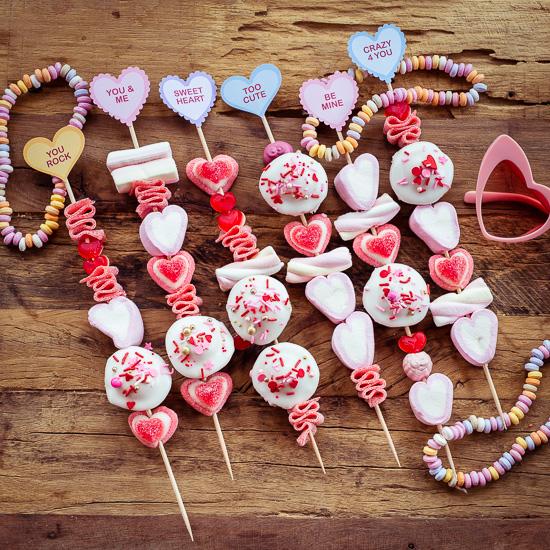 Süße Spiesse zum Valentinstag