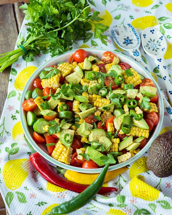 heute gibt es einen schnellen Salat