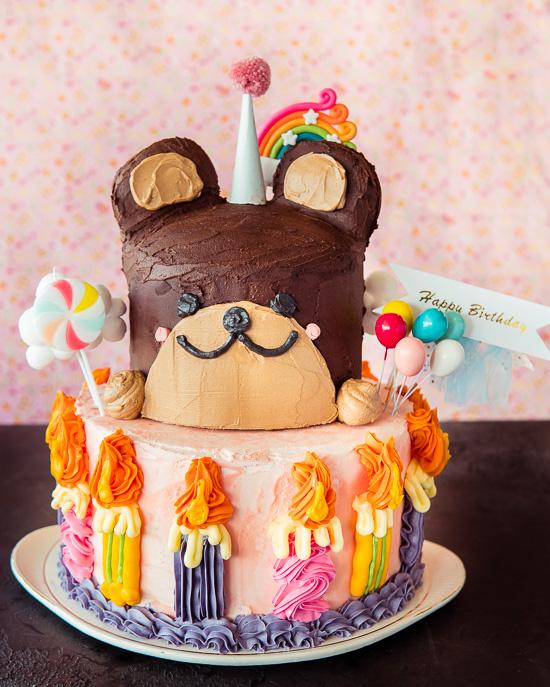 Diesen Schokobananenkuchen aus School of Baking hatte ich für meinen Geburtstag gebacken