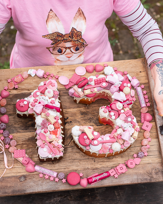 Ein Zahlenkuchen für den 13. Geburtstag