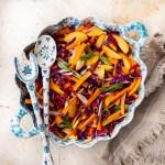 Rotkohl-Quinoa-Nektarinen Salat