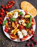 Tomaten Mozzarella Nektarinensalat