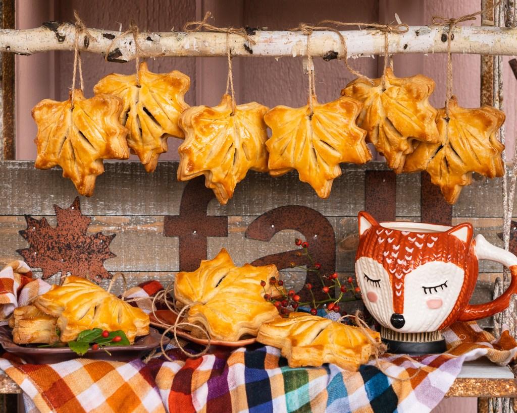 Kekse als Herbstblätter