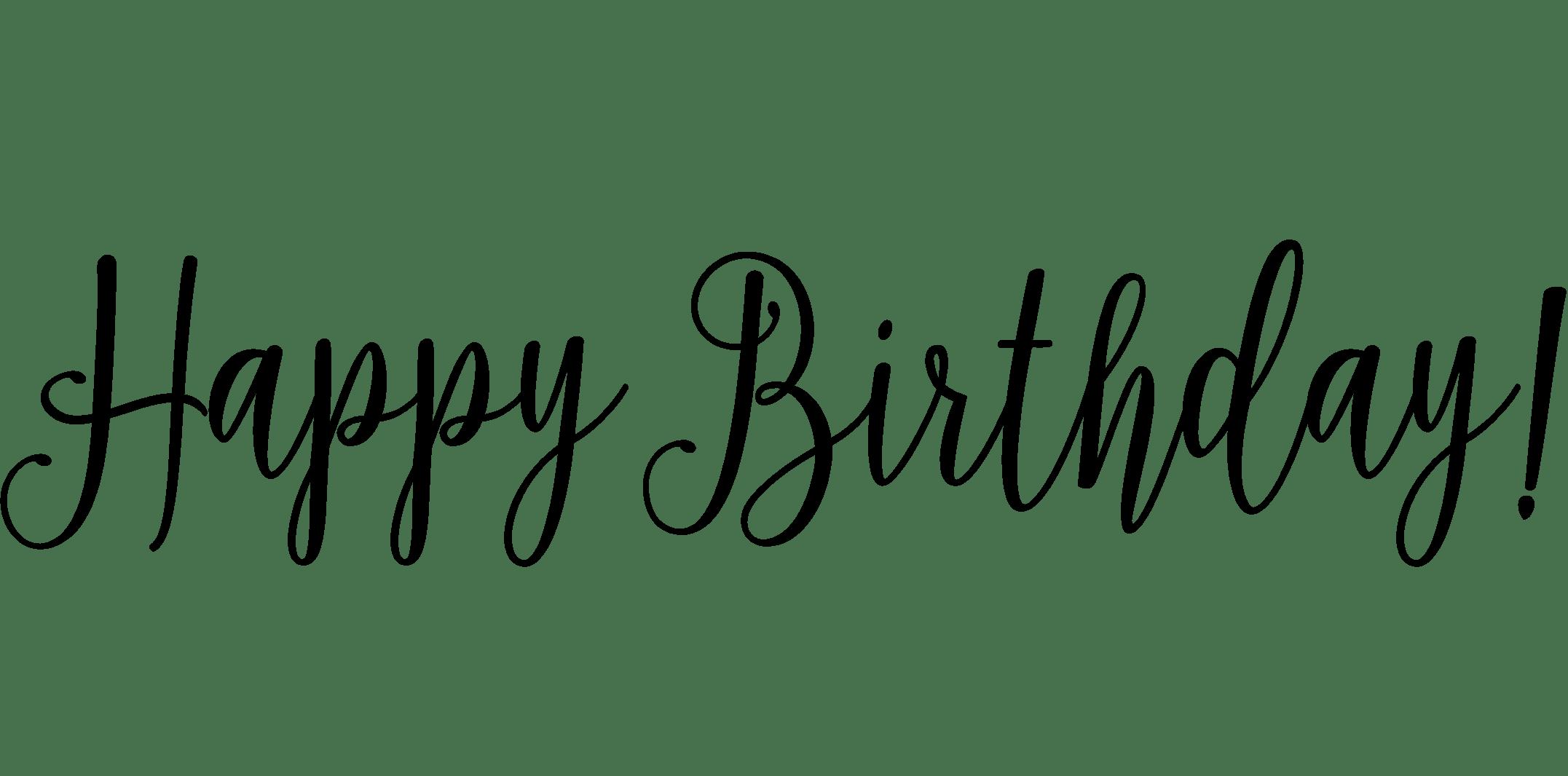 Happy Birthday Cursive Writing Worksheet