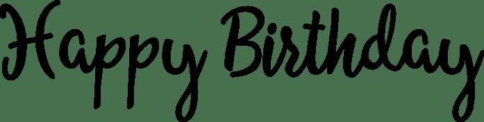 Happy Birthday Word Art Allessa