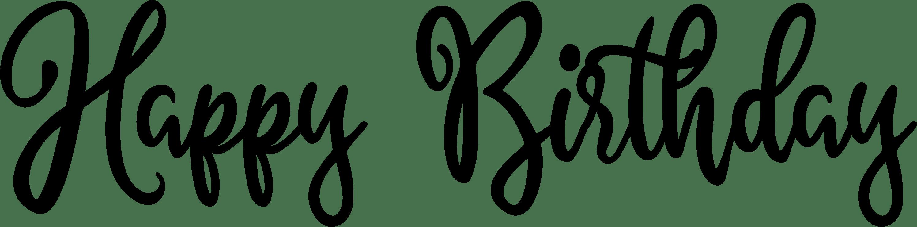 Happy Birthday Word Art Alyssum Blossom