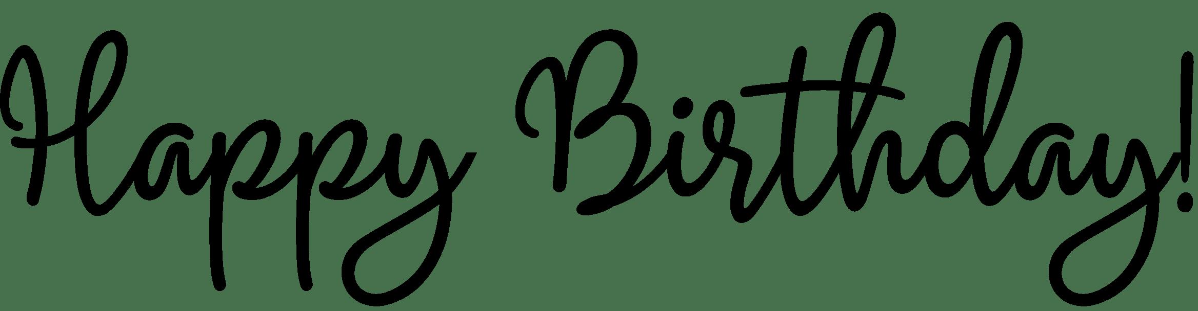 Happy Birthday Word Art Magenta