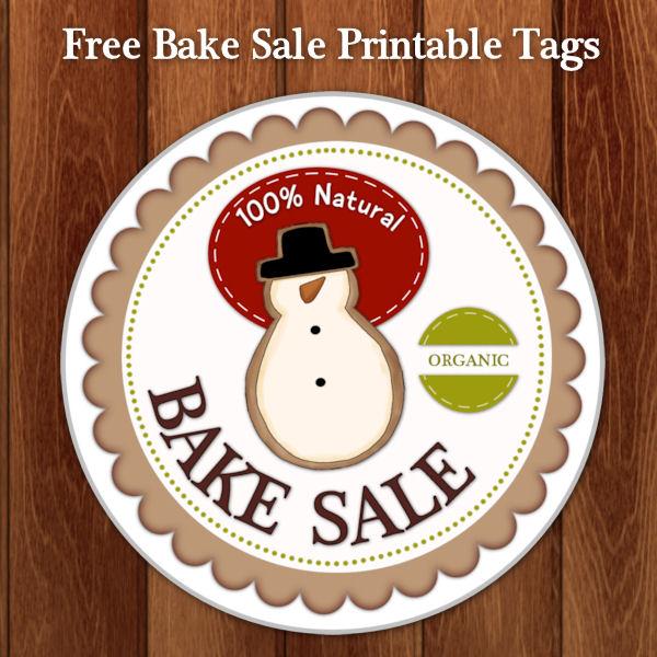 printable bake sale tags