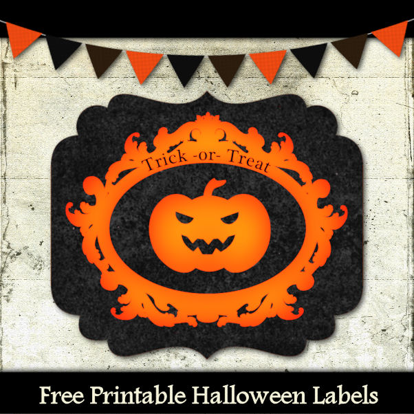 Free Trick or Treat Labels