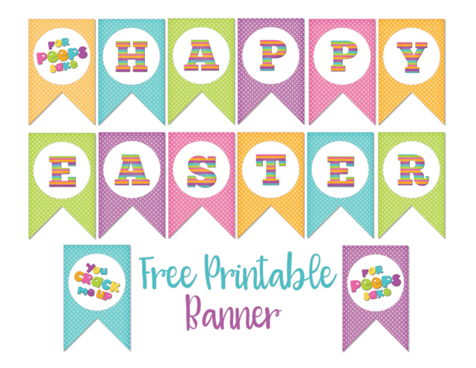 Cute Easter Bunny Stickers & Cupcake Toppers