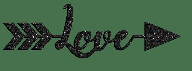 Valentine's Day Love Glitter Clipart – CuteCrafting